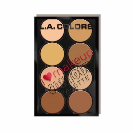 L.A. Colors Konturovací paleta I Heart Makeup
