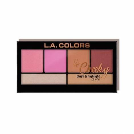 L.A. Colors So Cheeky Blush & Highlight Palette