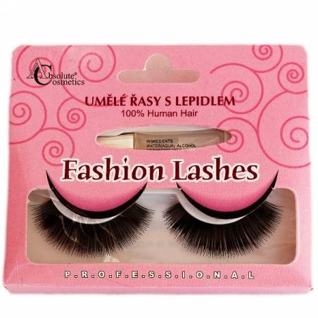 Absolute Cosmetics Fake Eyelashes with Glue, 14112/20, black