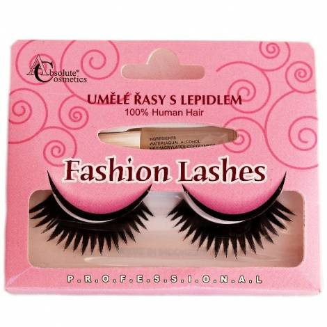 Absolute Cosmetics Fake Eyelashes with Glue, 14112/47, black