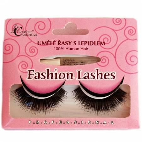 Absolute Cosmetics Fake Eyelashes with Glue, 14112/76, black