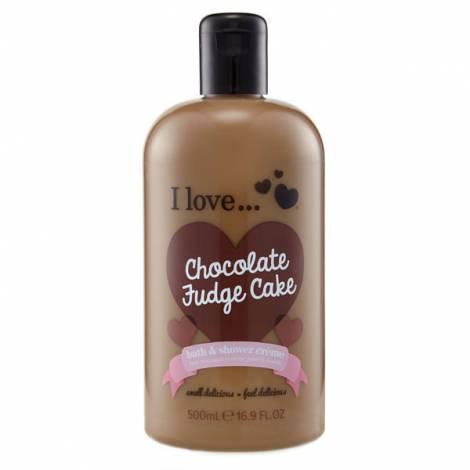 I Love Bath Shower Chocolate Fudge Cake