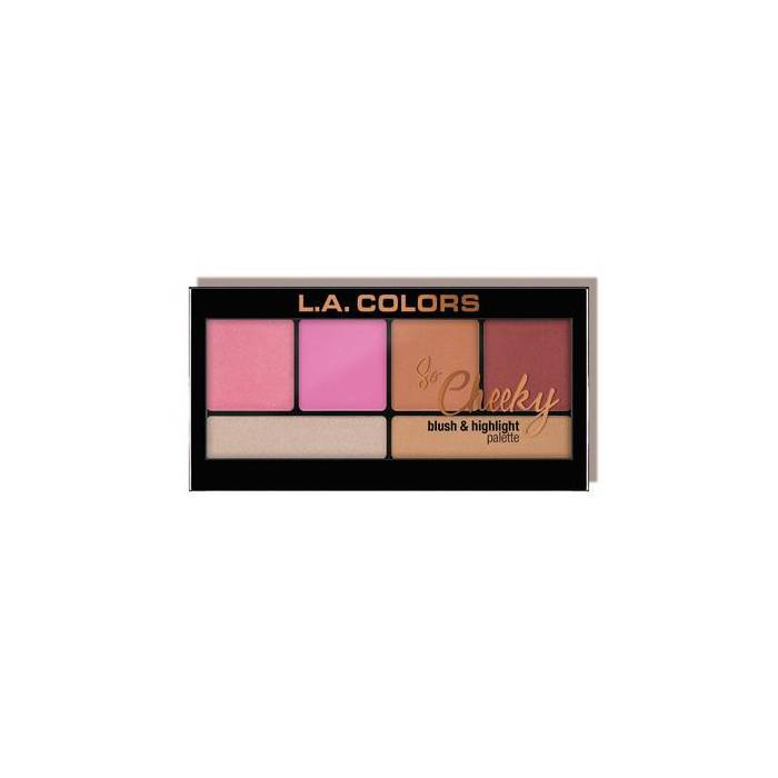 L.A. Colors So Cheeky Blush & Highlight Palette