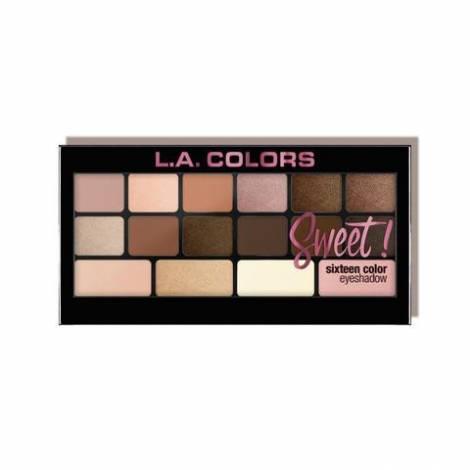 L.A. Colors Paletka 16 očních stínů Sweet!