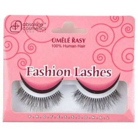 Absolute Cosmetics Fake Eyelashes with Glue, 14112/747, black