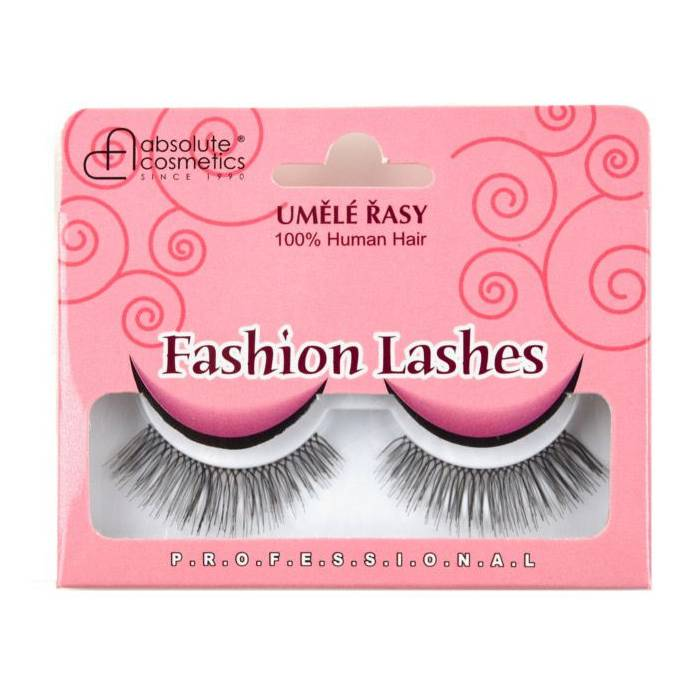 Absolute Cosmetics Fake Eyelashes with Glue, 14112/82, black