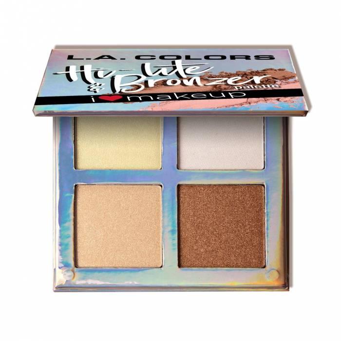 L.A. Colors Beauty Booklet Hi-Lite & Bronzer Palette